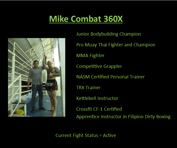 Mike Combat 360X MMA,BJJ and Fitness Coach
